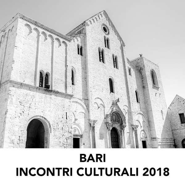 INCONTRI CULTURALI BARI 2018