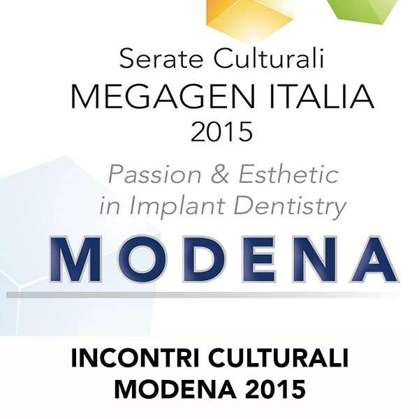INCONTRI CULTURALI MODENA 2015