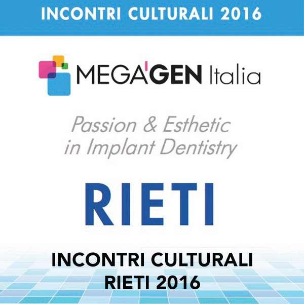 INCONTRI CULTURALI RIETI 2016