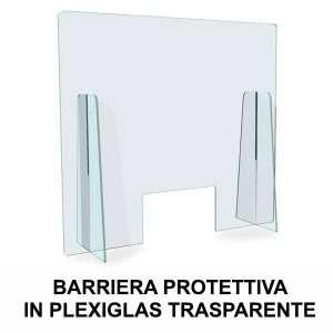 BARRIERA PROTETTIVA IN PLEXIGLAS TRASPARENTE